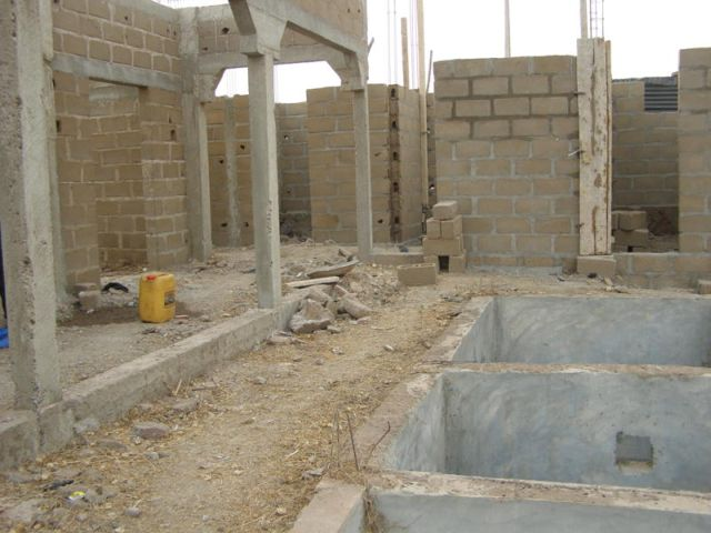 Ecole de l'association humanitaire Objectif Mali construction des sanitaires