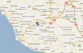 Carte Googlemap Situation du départ de la randonnée de l'association Objectif Mali à Ste Flaive des Loups